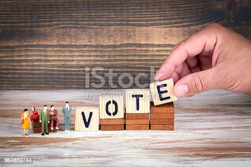 Vote Survey And Referendum Business And Council Members Stock Photo & More Pictures of Analyzing