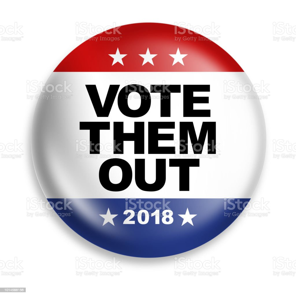 vote them out button stock photo