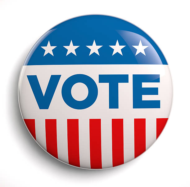 vote usa - button stock photos and pictures
