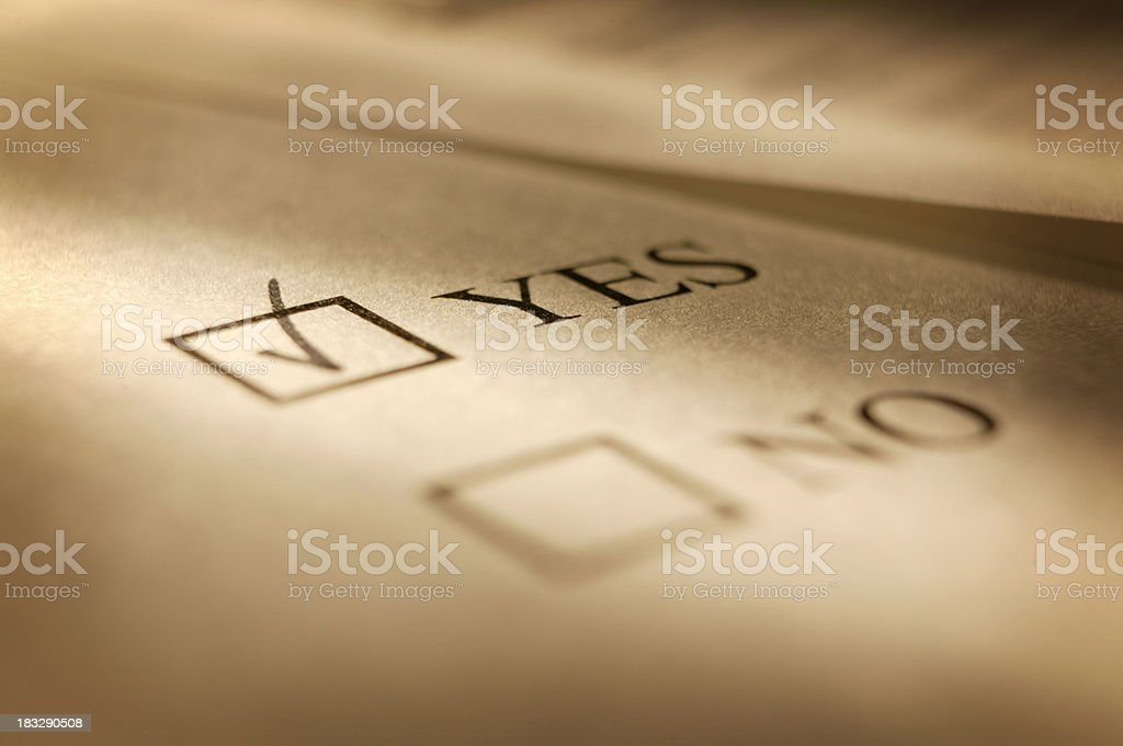 Vote yes royalty-free stock photo