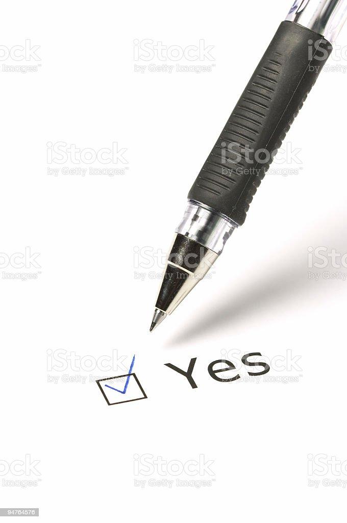 Vote Yes! stock photo