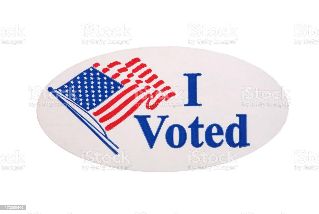 I Voted Sticker royalty-free stock photo