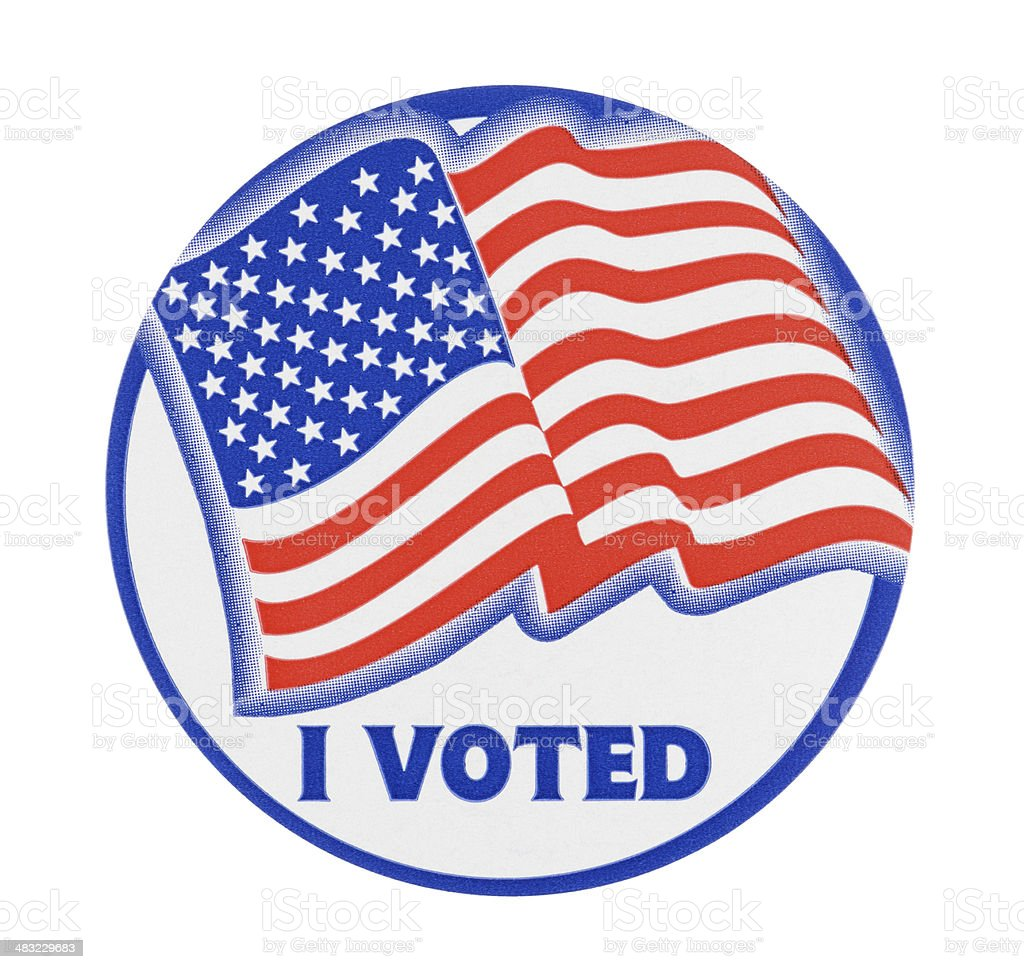 I Voted Sticker stock photo