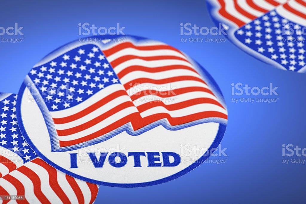 I Voted Stickers stock photo