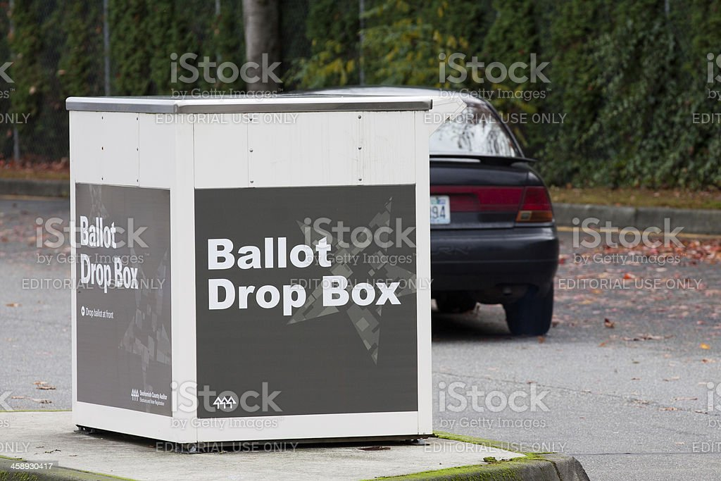 Voter Driving Away from Ballot Box royalty-free stock photo