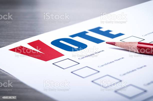Voters Ballot Closeup Stock Photo - Download Image Now