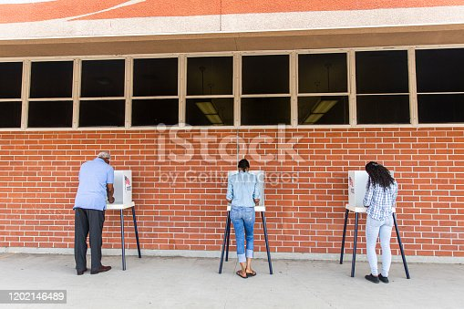 1001757174 istock photo Voters on Election Day 1202146489