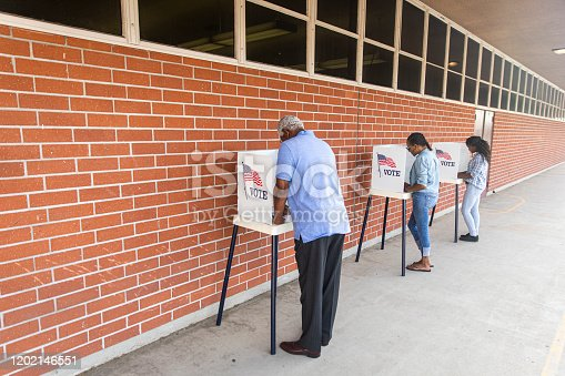 1001757174 istock photo Voters on Election Day 1202146551