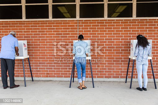 1001757174 istock photo Voters on Election Day 1202146592