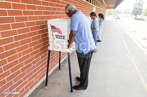 1001757174 istock photo Voters on Election Day 1202146650