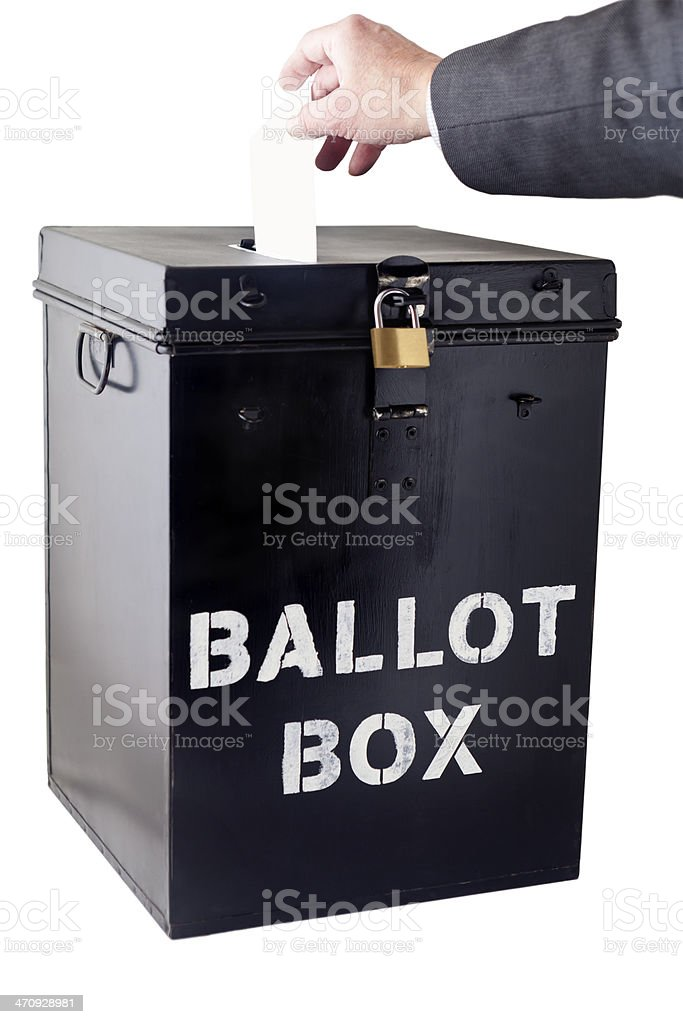 Voting at Ballot Box stock photo