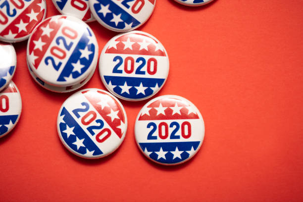 Voting Badge A 2020 voting badge. election stock pictures, royalty-free photos & images