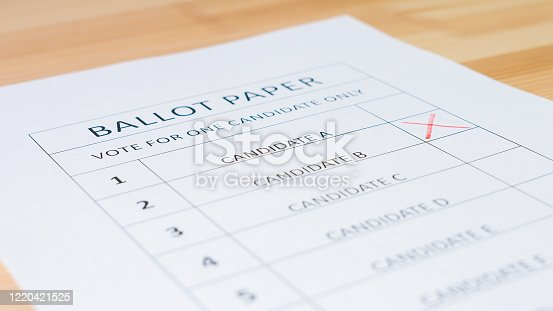1001757106 istock photo Voting ballot paper 1220421525