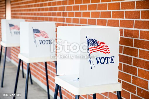 istock Voting Booths with no people 1001755108