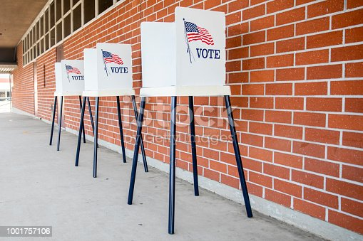 1001757106 istock photo Voting Booths with no people 1001757106