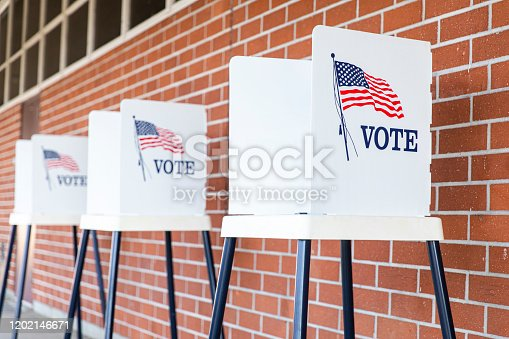 istock Voting Booths with no people 1202146671