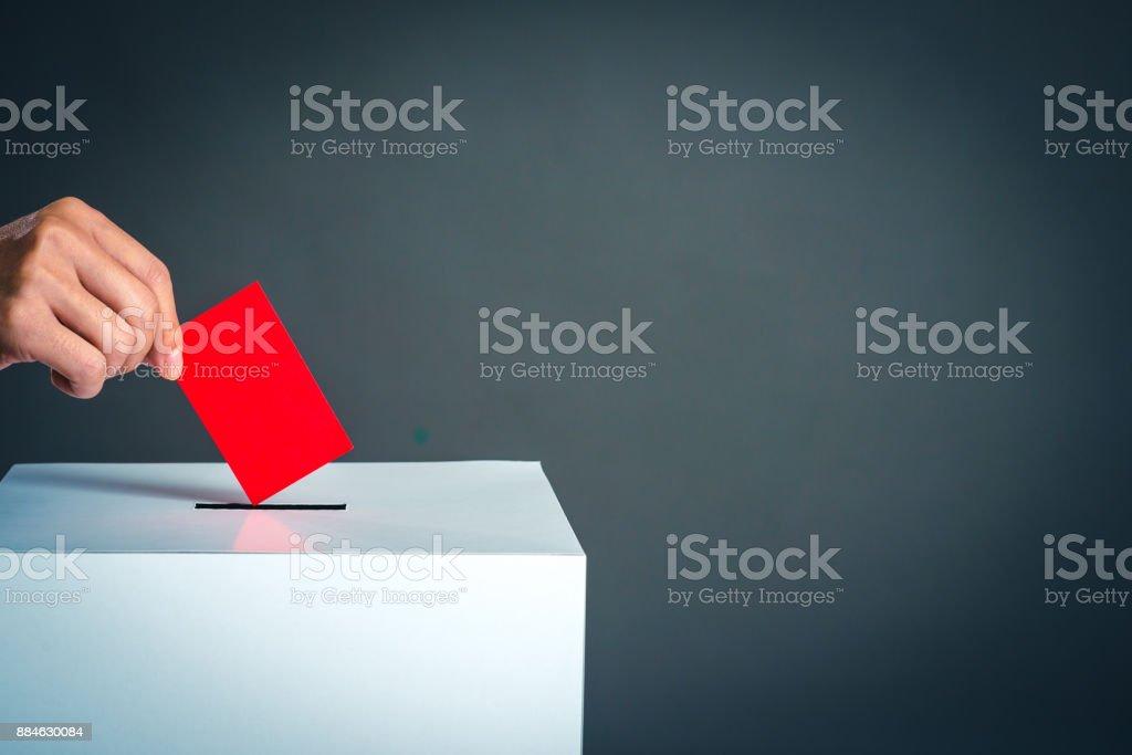 Box und Wahl Bild Voting – Foto