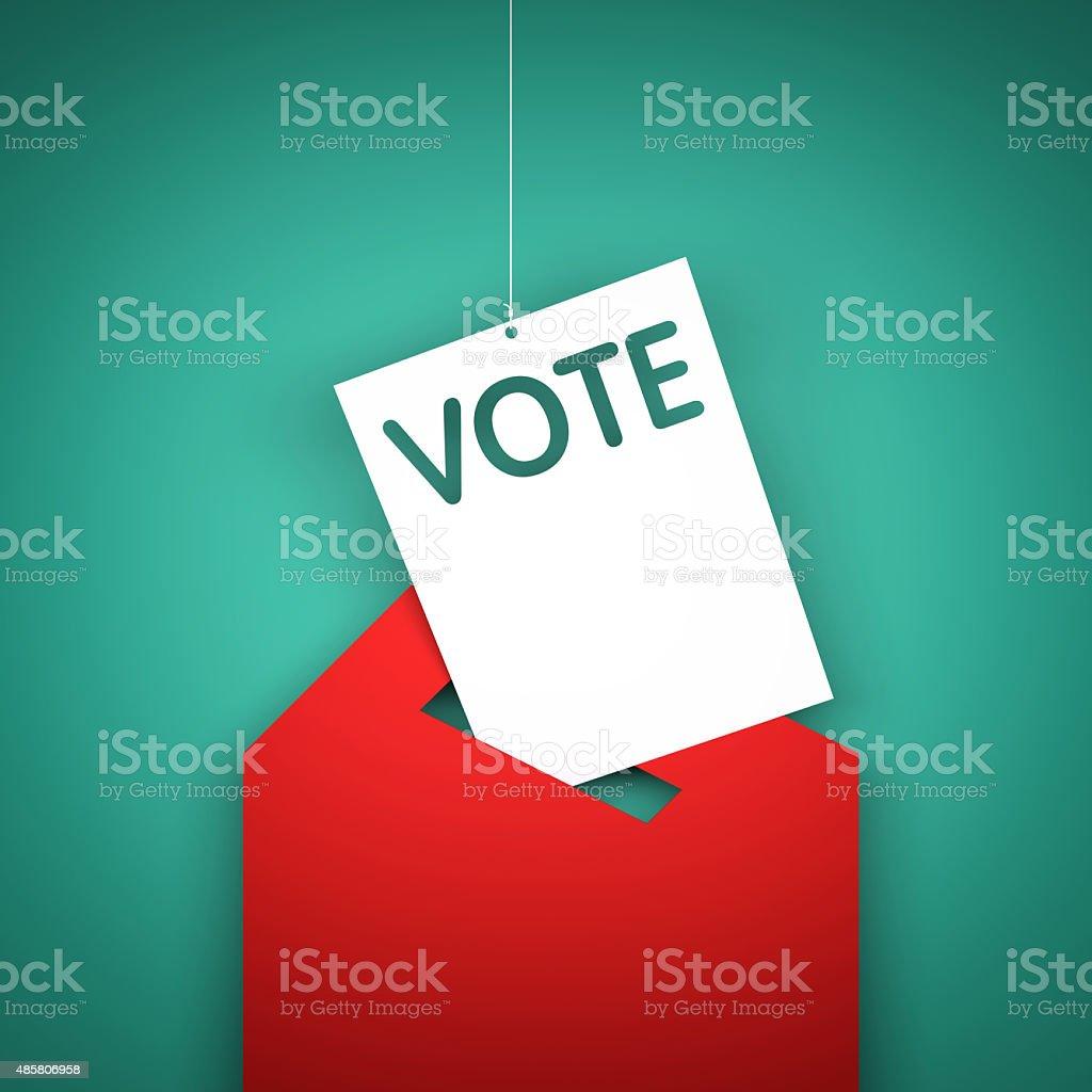 Voting box stock photo
