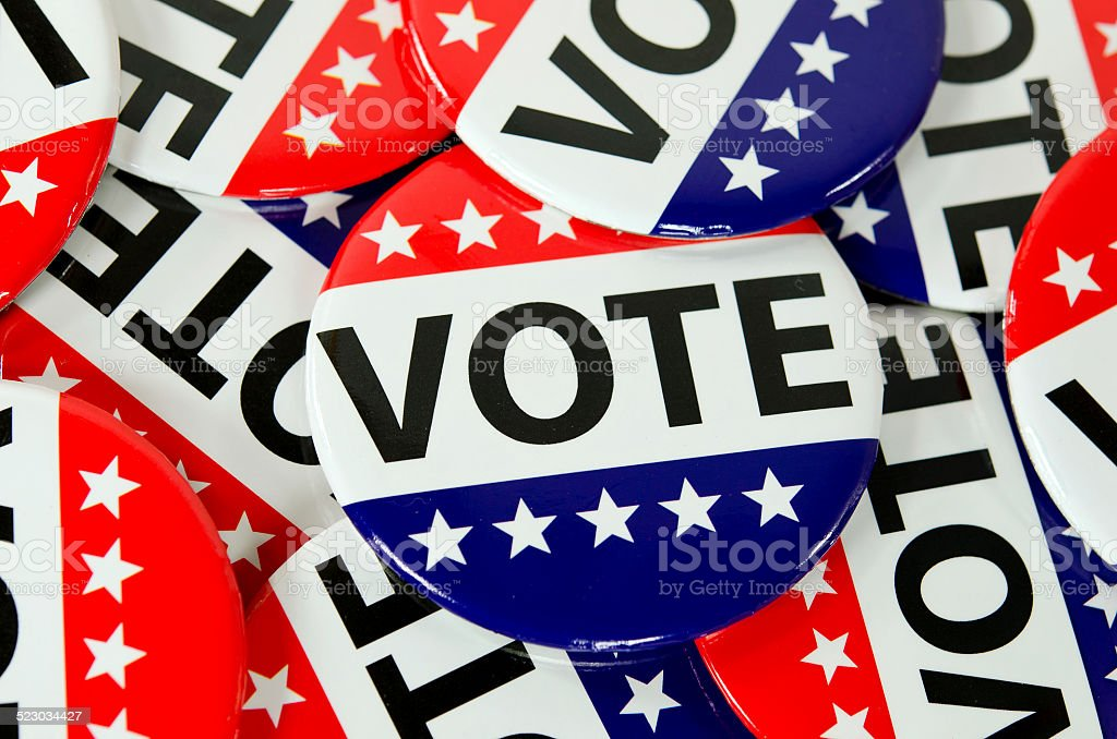 voting buttons stock photo