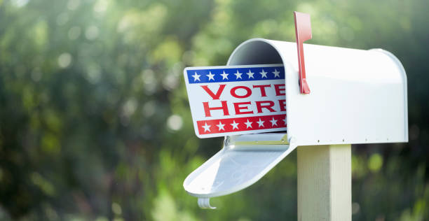 Voting By Mail Concept stock photo