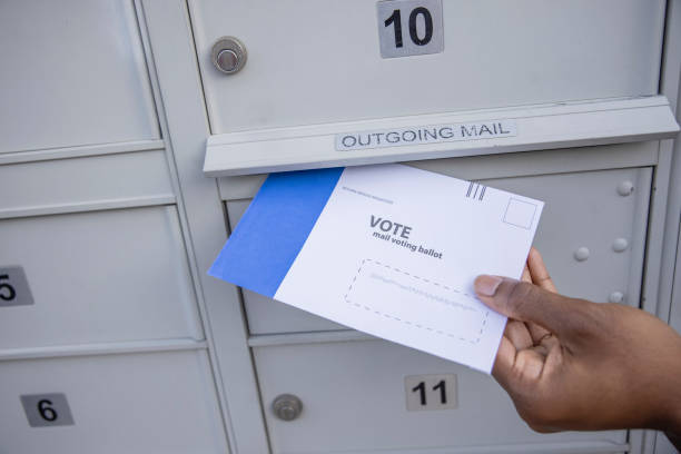Voting by mail stock photo