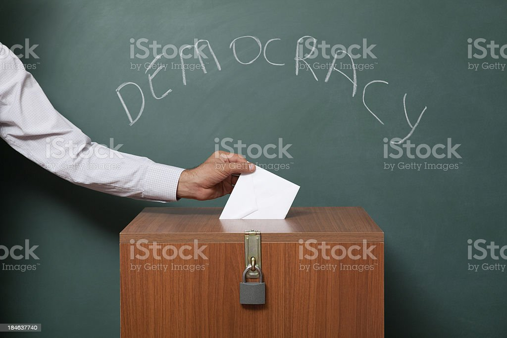 Voting for election royalty-free stock photo