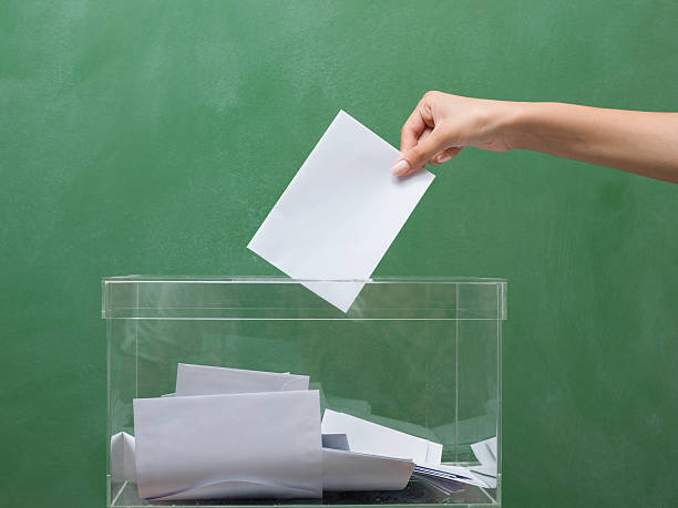 Voting for election stock photo