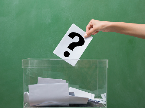 Voting For Election Transparent Ballot Box Stock Photo - Download Image Now