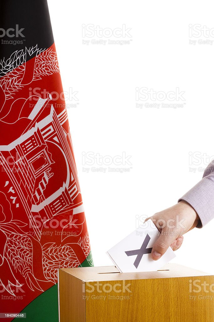 Voting in Afghanistan royalty-free stock photo