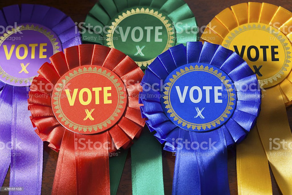 Voting in an Election stock photo