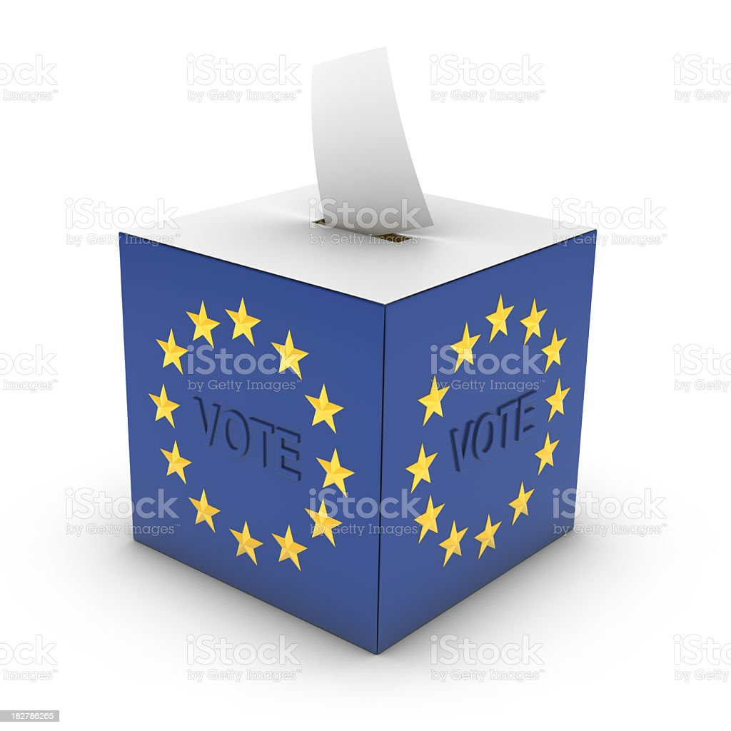 Voting in the European Union royalty-free stock photo