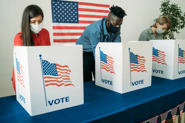 Voting in the USA stock photo