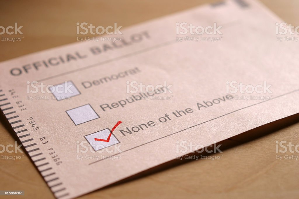 Voting Independent stock photo