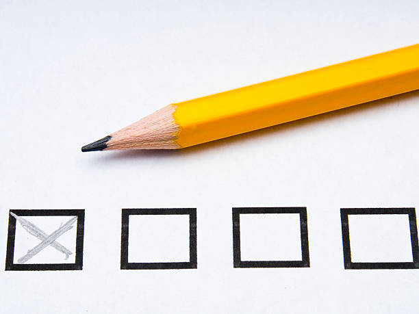 Voting or Ballot form stock photo