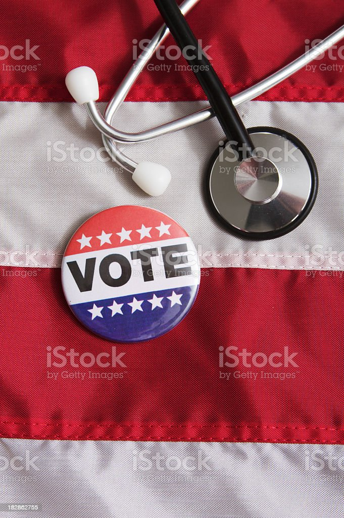 Voting Pin USA Medical Issue royalty-free stock photo