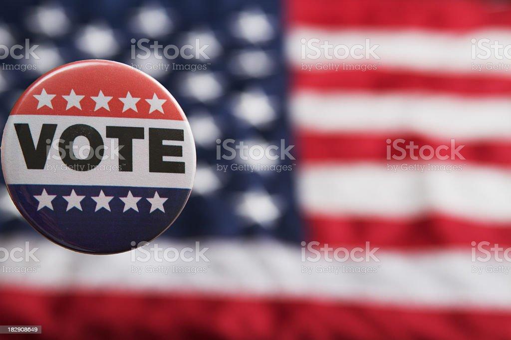 Voting Pin USA royalty-free stock photo