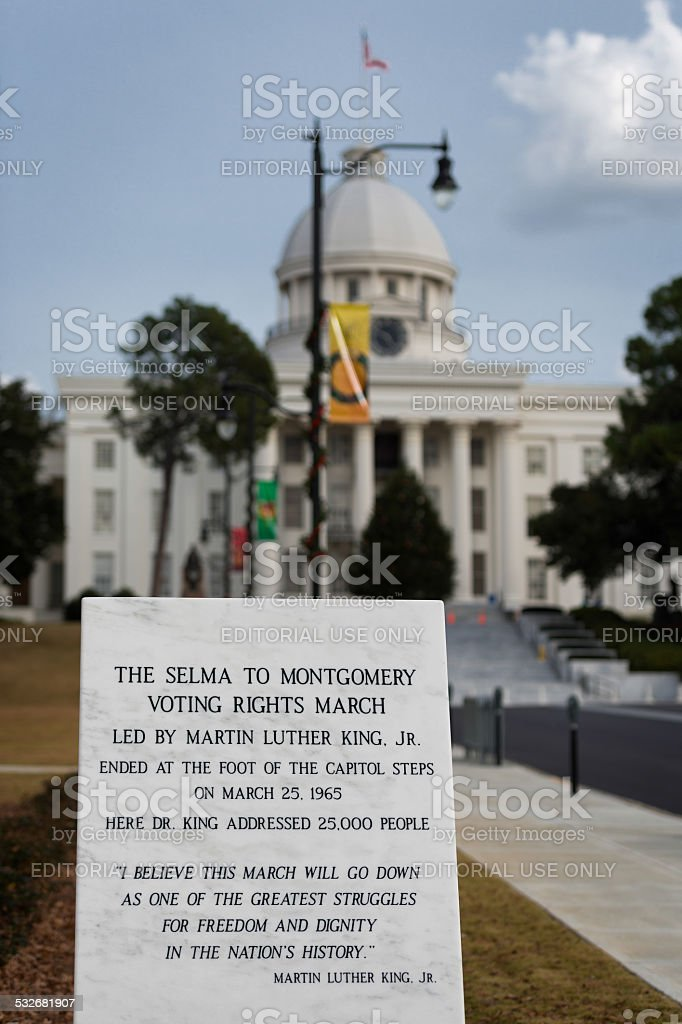 Voting Rights March Monument stock photo