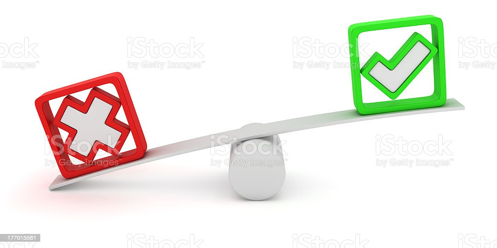 Voting seesaw royalty-free stock photo