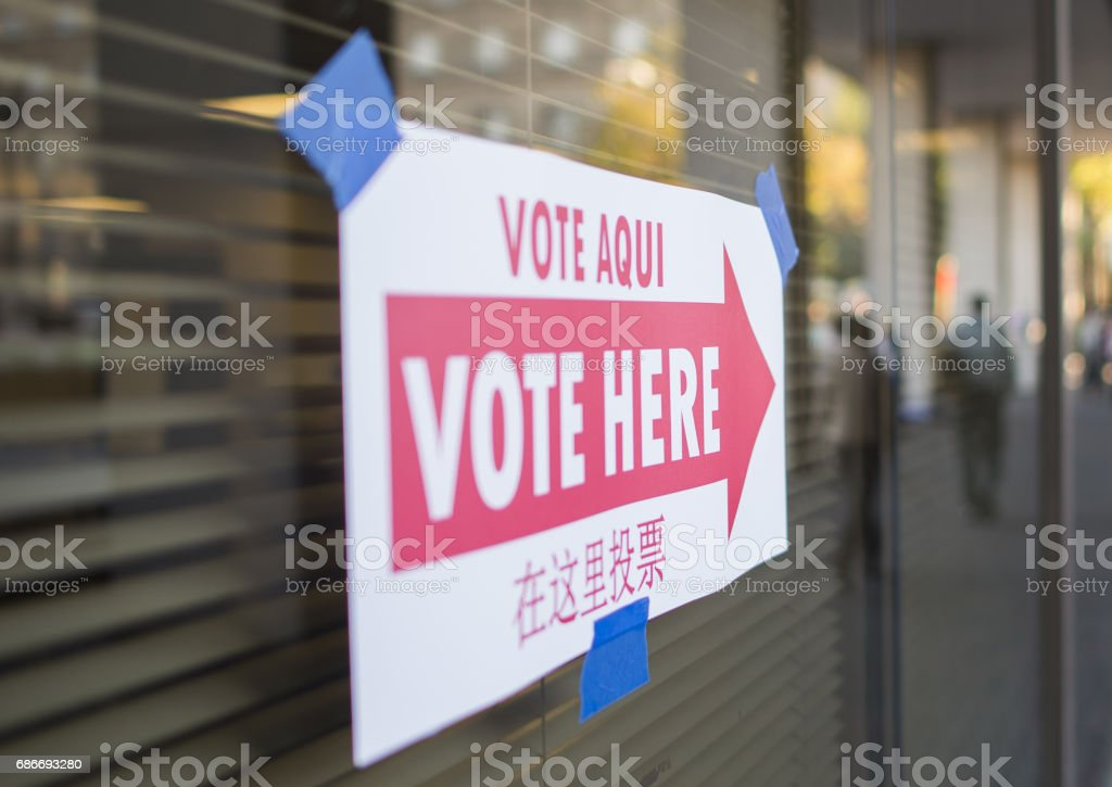 Voting Sign stock photo