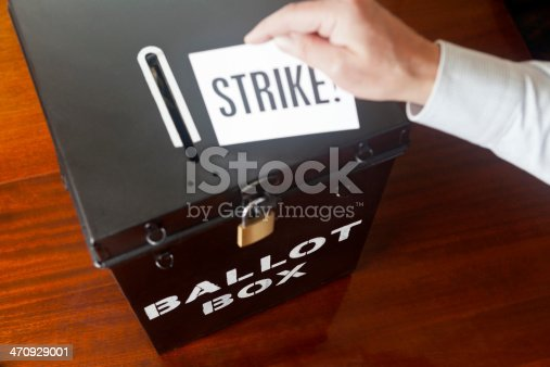 Ballot Box voting to take industrial action for workers to go out on strike.