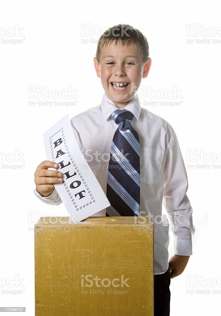 Voting young royalty-free stock photo