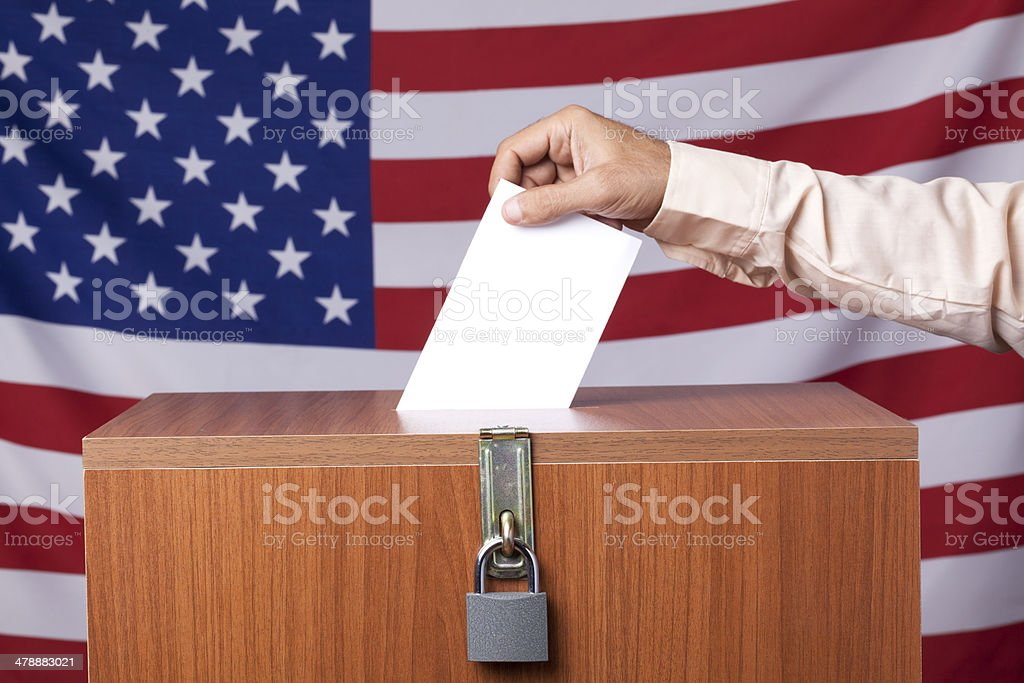 Votiong for election stock photo