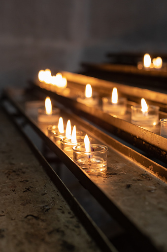Votive Altar In Church Stock Photo - Download Image Now - iStock