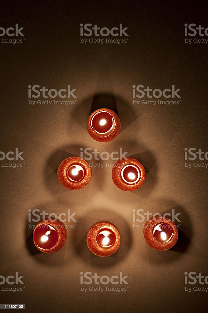 Votive Candle Abstract royalty-free stock photo