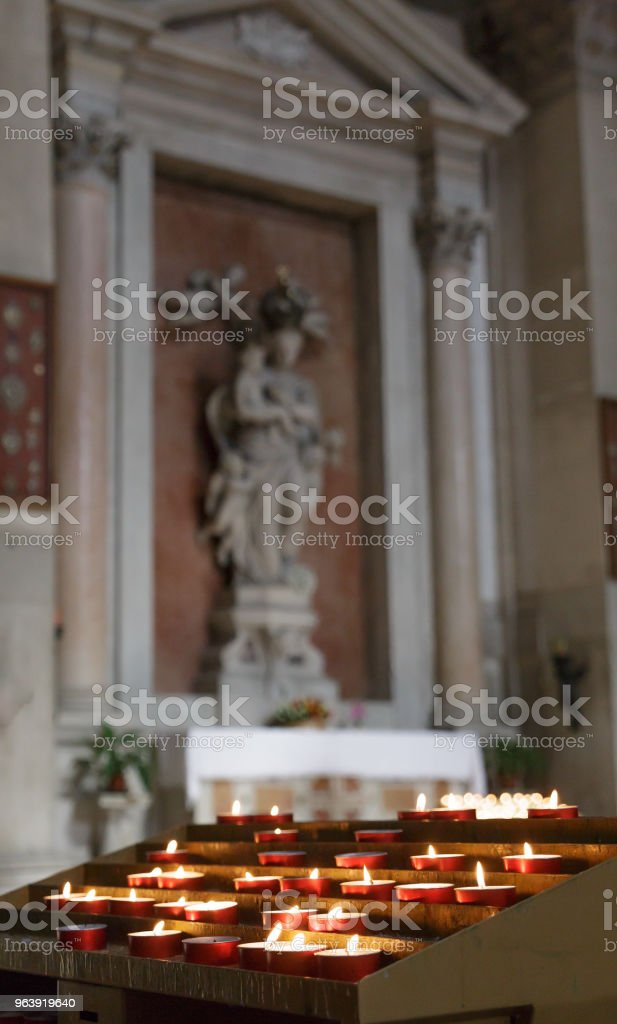 Votive Candles in Church - Royalty-free Architecture Stock Photo