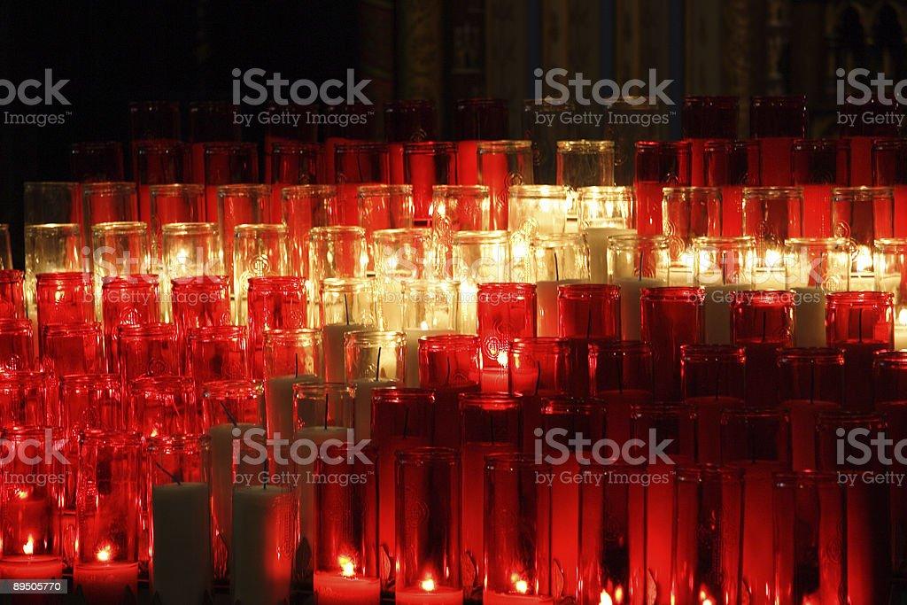 Des bougies décoratives photo libre de droits