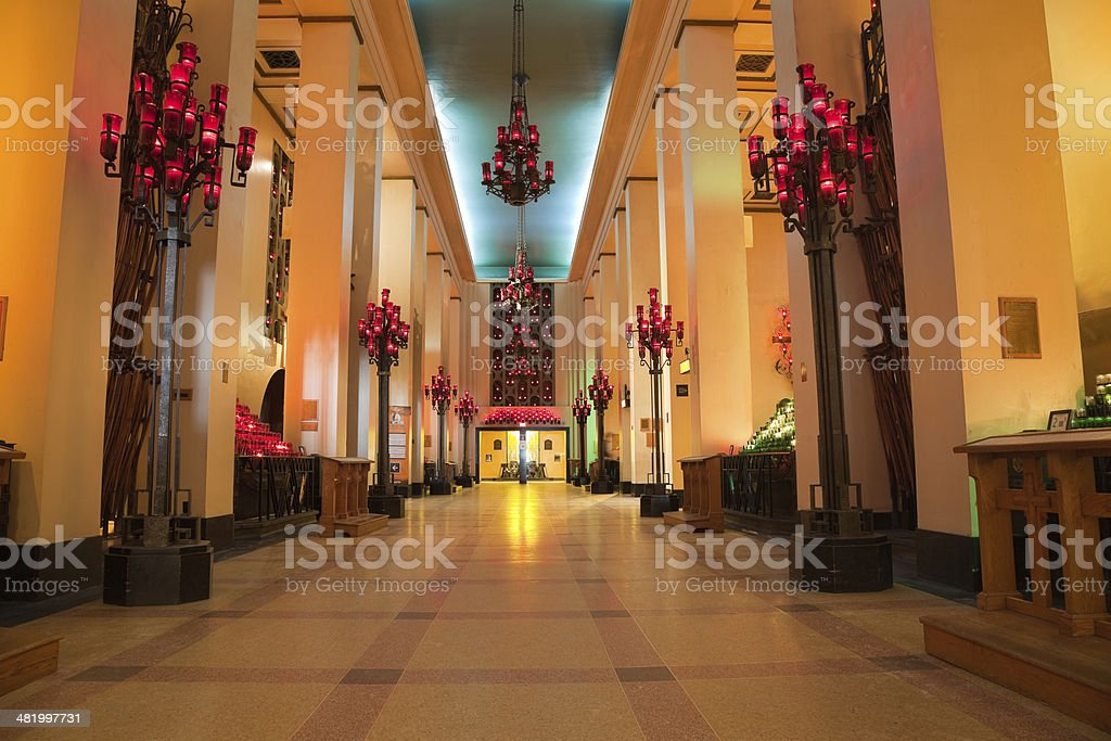 Votive or Chapel of the  Ex-votos Saint Joseph's Oratory royalty-free stock photo