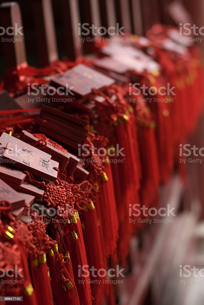 Votive prayer plaques, Dongyue Temple, Beijing, China royalty-free stock photo