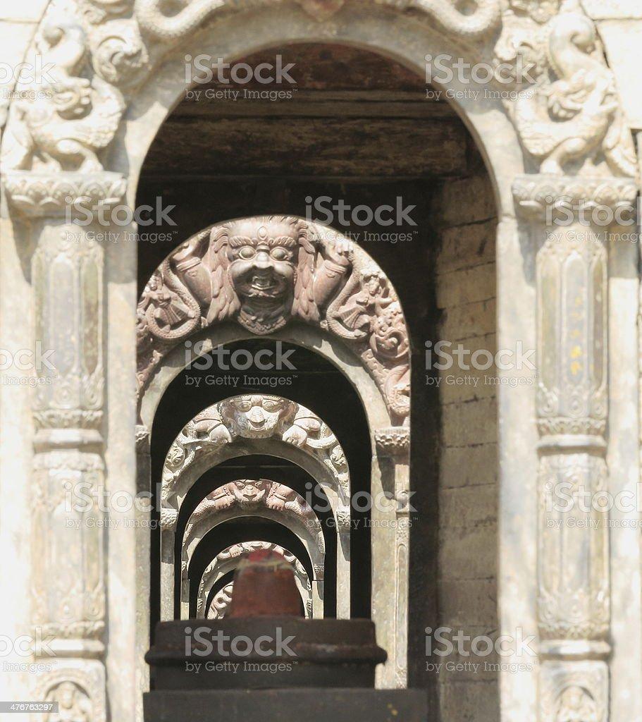 Votive shrines-Pandra Shivalaya complex-Pashupatinath temple-Deopatan-Kathmandu-Nepal. 0298 stock photo