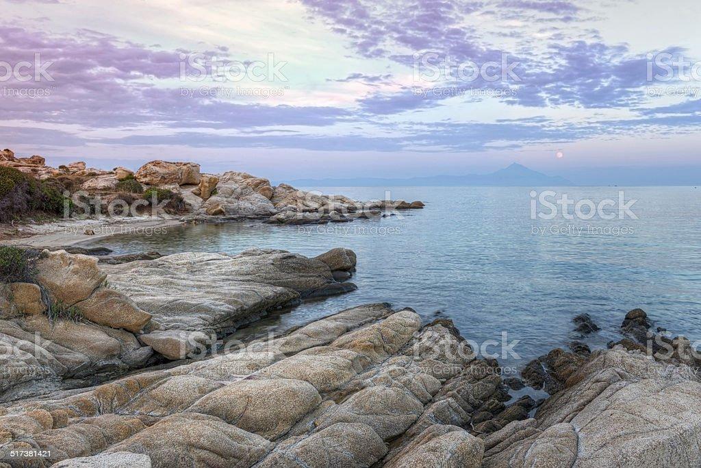 Vourvourou - Karidi beach, Greece stock photo